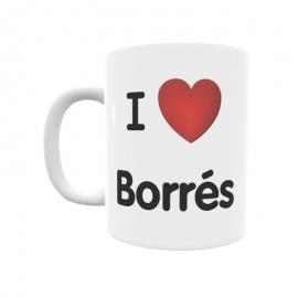 Taza - I ❤ Borrés