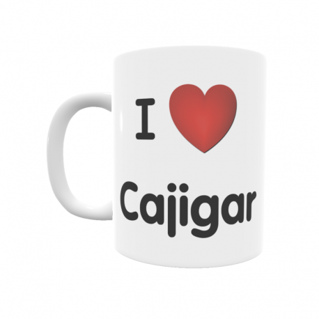 Taza - I ❤ Cajigar