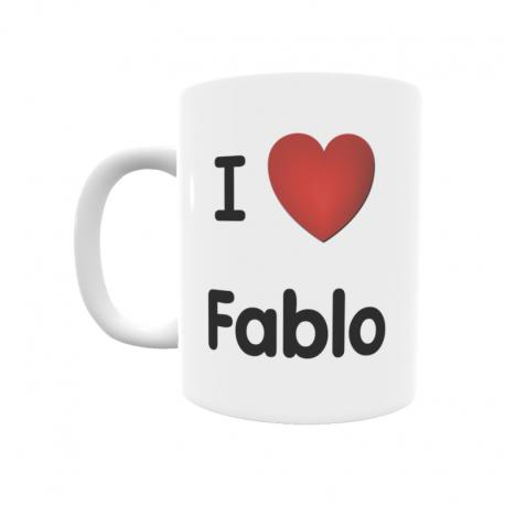 Taza - I ❤ Fablo