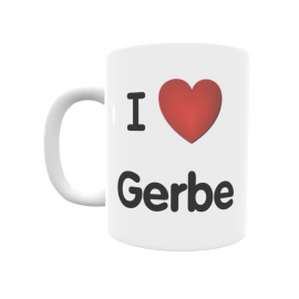 Taza - I ❤ Gerbe