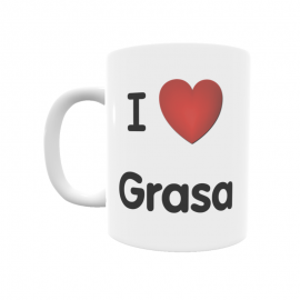 Taza - I ❤ Grasa
