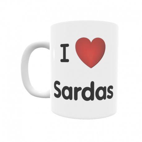 Taza - I ❤ Sardas
