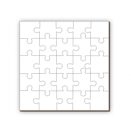 Puzzle cuadrado 25 piezas