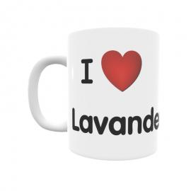 Taza - I ❤ Lavandera