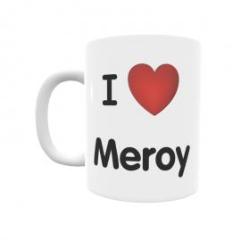 Taza - I ❤ Meroy