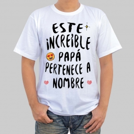 Camiseta para papá - Este increíble papa pertenece ...
