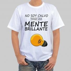 Camiseta personalizada - No soy calvo, tengo una mente brillante