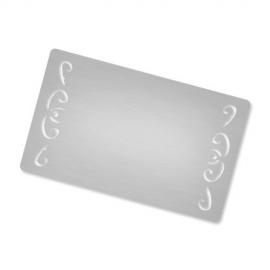 Tarjeta visita personalizada metálica - Borde irregular