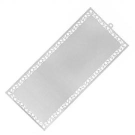 Marcapáginas metálico Plateado - Perforado