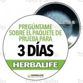 Chapa 58 mm HERBALIFE - Herbalife tres dias.