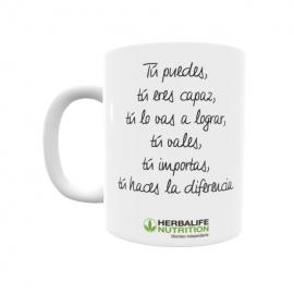 Taza personalizada Herbalife tú puedes tú eres capaz