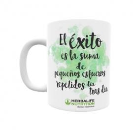 Taza personalizada Herbalife el éxito es la suma de pequeños esfuerzos