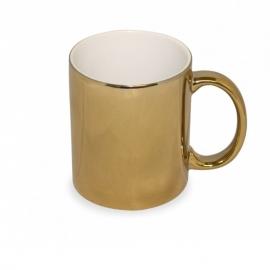 Taza PREMIUM personalizada Color metalizado dorado foto texto logotipo merchandising