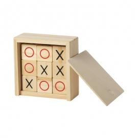 juego de madera personalizado tres en linea