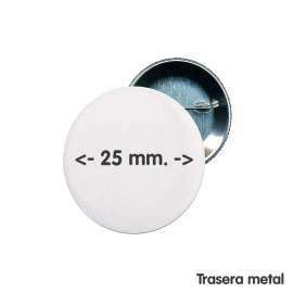 Chapa de 25 mm.