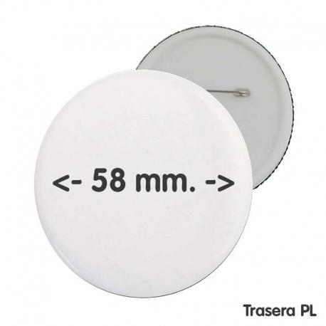 Chapa 58 mm personalizada publicidad comuniones