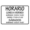 Horarios / Tipografías especiales